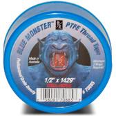 """Blue Monster 1/2""""  X 1429"""" Teflon Tape"""