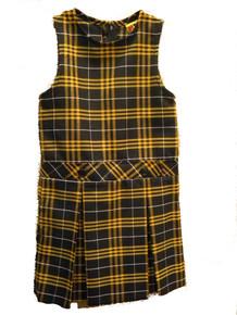 Drop Waist Jumper with 2-Kick pleat skirt PLAID P2V