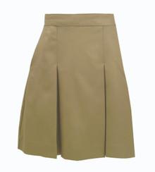 2-Kick Pleat Skirt KHAKI