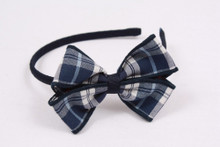 Small Headband with Plaid Bow