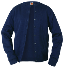 Crew Neck Fine Gauge Cardigan Sweater 4917