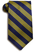 Navy & Gold Striped Tie (1004)