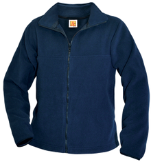 Full zip navy fleece jacket