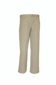 Boys khaki Regular And Slim Flat Front Pant