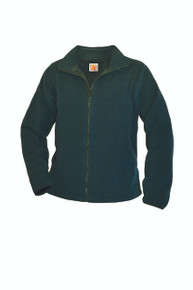 Full zip hunter green fleece jacket