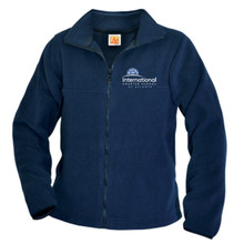 Full zip navy fleece jacket_ICS