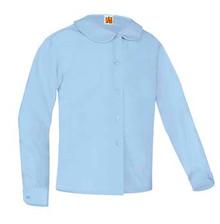 Peter Pan Long Sleeve Blouse_blue