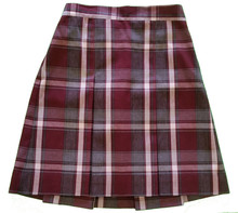 Plaid 2-Kick Pleat Skirt P54