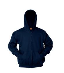 Hooded Full Zip Sweatshirt- NVY_DUN