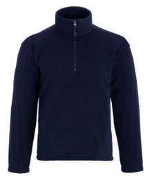 Quarter zip navy fleece jacket