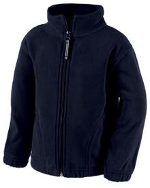 Toddler Full zip navy fleece jacket