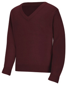 V-Neck Pullover Sweater_CLS_BUR
