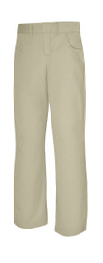 Girls' Reg Pant -Khaki_FT