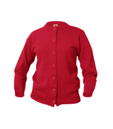 Girls' Cardigan_red_nvy