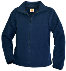 Embroidered Full Zip Fleece_DUN