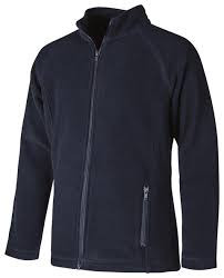 Full zip navy female fit fleece jacket_Amana