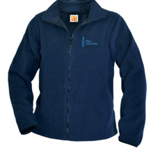Full zip navy fleece jacket_AJA