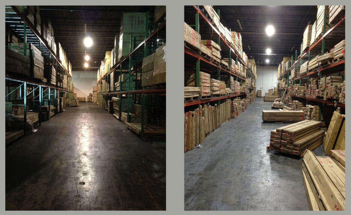 Warehouses full of boxes
