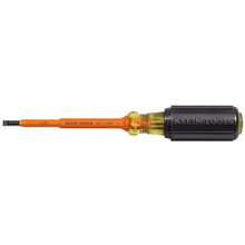 "Klein Tools 601-4-INS Insulated 3/16"" Cabinet - 4"" Screwdriver"