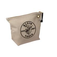 Klein Tools 5539NAT Canvas Zipper Bag- Consumables, Natural