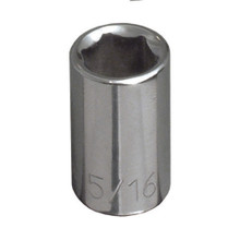 "Klein Tools 65606 3/8"" Std 6-Point Socket - 1/4"" Drive"