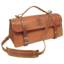 """Klein Tools 5108-18 18"""" Deluxe Leather Bag"""
