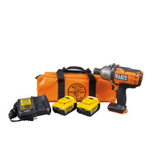 """Klein Tools BAT20-7161 Battery-Operated Impact Wrench Kit, 7/16"""""""