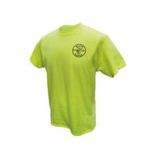 Klein Tools MBA00040-1 Green HiViz Safety T-Shirt, Medium