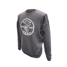 Klein Tools MBA00045-3 Crewneck Sweatshirt Grey, XL