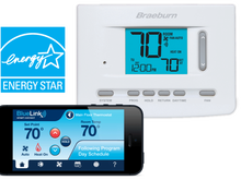 Braeburn 7205 Digital Programmable Wi-Fi Thermostat, White