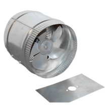 Acme Miami 9010 10 in. Duct Booster - 600 CFM - Silver