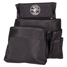 Klein Tools  5701 PowerLine™ Series 8-Pocket Tool Pouch, Black Nylon