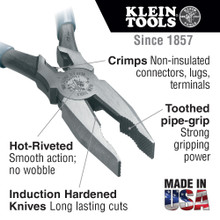 Klein Tools  12098 Universal Combination Pliers, 8-Inch