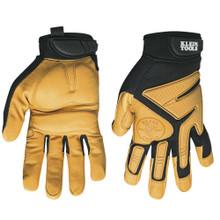 Klein Tools  40222 Journeyman Leather Gloves, X-Large