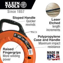 Klein Tools  56006 1/4-Inch Wide Steel Fish Tape, 100-Foot