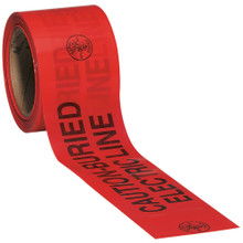 Klein Tools  58002 Caution Barricade Warning Tape, 3-Inch x 200-Foot