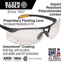 Klein Tools  60057 Protective Frameless Eyewear Brown Tinted Lens