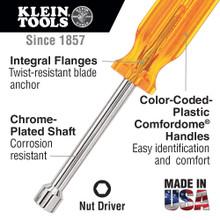 Klein Tools  89904 Nut Driver Set, 6-Inch Shafts, 7-Piece