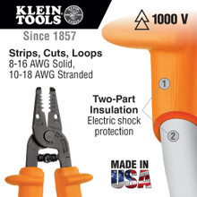 Klein Tools  11049-INS Wire Stripper/Cutter 8-16 AWG Stranded