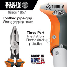 Klein Tools  12098EINS Combination Pliers, Insulated