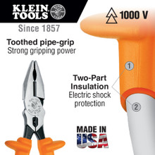 Klein Tools  12098-INS Insulated Universal Combination Pliers, 8-Inch