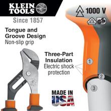 Klein Tools  50210EINS Insulated Pump Pliers, Slim Handle, 10-Inch