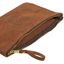 Klein Tools  5139L Top-Grain Leather Zipper Bag