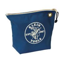 Klein Tools  5539BLU Canvas Zipper Bag- Consumables, Blue
