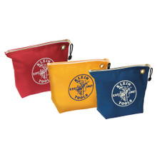 Klein Tools  5539CPAK Assorted Canvas Zipper Bags, 3-Pack