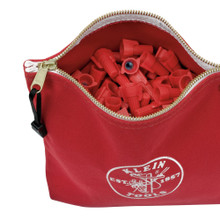 Klein Tools  5539RED Canvas Zipper Bag- Consumables, Red