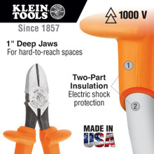 Klein Tools  D220-7-INS Insulated Pliers, Diagonal Cutters, 7-Inch