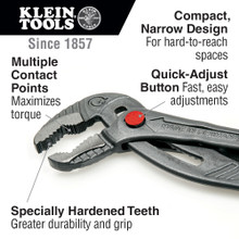 Klein Tools  D504-12B Quick-Adjust Klaw™ Pump Pliers, 12-Inch