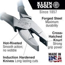 Klein Tools  HD213-9NE Heavy Duty Lineman's Pliers, 9-Inch