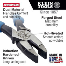 Klein Tools  J20008 Lineman's Pliers, 8-Inch